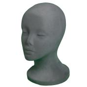 A1Pacific 27.9cm GREY Velvet STYROFOAM FOAM MANNEQUIN MANIKIN head wig display hat glasses
