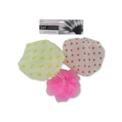 Shower Cap & Body Scrubber Set 24Pcs