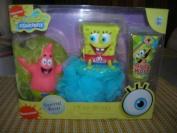 Spongebob Squarepants Tub Time Friends 3 Pcs Bath Gift Set - Includes 2 Bath Pouffes & Body Wash
