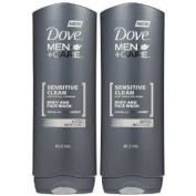Dove Men + Care Body and Face Wash, Sensitive Skin, 530ml