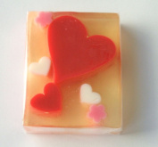 Red White Heart Glycerin Soap