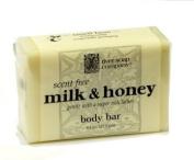 River Soap Company Simple Wrap Bar Soap, Milk & Honey Complexion Bar, 130mls, Large