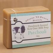 Handmade 100% Raw Goat Milk Patchouli Soap