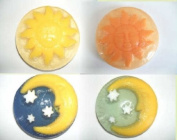 4 Glycerin Soaps, Moon's and Sun's