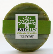 JustNeem Certified Organic Neem Soap 120g bar - Rosemary Eucalyptus