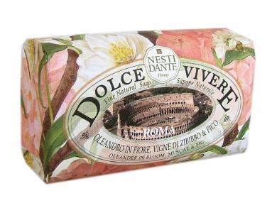 Dolce Vivere Fine Natural Soap - Roma - Olenander In Bloom, Muscat & Fig, 250g260ml