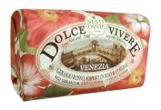 Dolce Vivere Fine Natural Soap - Venezia - Red Geranium, Rice Cloud & Cotton Flower, 250g260ml