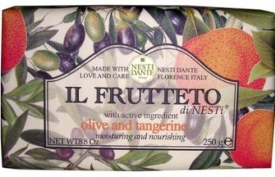 Nesti Dante Il Frutteto Olive and Tangerine Natural Fruit Scented Bar Soap for Bath Hands and Body 250g