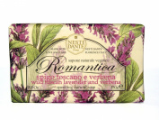 Nesti Dante Romantica Tuscan Lavender and Verbena Flower Scented Natural Bar Soap for Bath Hands and Body 250g