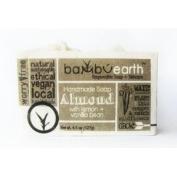 BambuEarth 130ml Handmade Soap Bars in Plantable Packaging - ALMOND LEMON