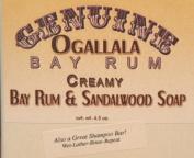 Two (2) Genuine Ogallala Bay Rum & Sandalwood Bath Soap/Shampoo Bar - 130ml each