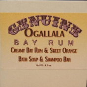 Two (2) Genuine Ogallala Bay Rum, Bay Rum & Sweet Orange Bath Soap/Shampoo Bar- 130ml each