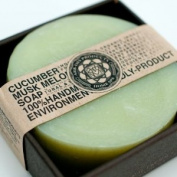 ARB - Aromatherapy Organic Face & Body Bar Soap 100 g. Round Shape - CUCUMBER & MUSK MELON