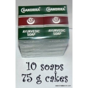 Chandrika Soaps (pack of 10) 75 gramme bars