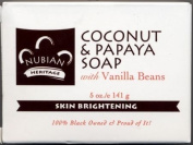 Nubian Heritage Coconut & Papaya Soap 150ml X 6 Bars