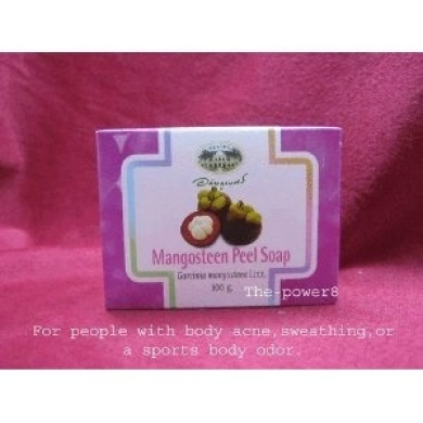 Mangosteen Peel Herbal Soap the Deodorant Body Heal the Skin Pores 100g Made From Thailand