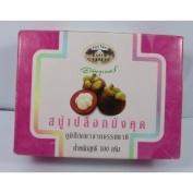 2 x Abhaibhubejhr Mangosteen Peel Soap Product of Thailand