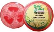 Hawaiian Bubble Shack Loofah Glycerin Soap Persimmon and Papaya 4 Bars