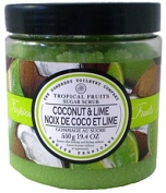 Asquith & Somerset Tropical Fruits Coconut & Lime Sugar Scrub 570ml From England