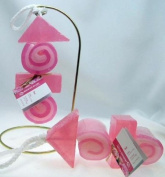 Handmade Rose Kebab Shaped Soap on a Rope
