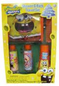 Spongebob Squarepants Travel Bath and Shower Set for Boys - Includes Body Wash, Shampoo,hair Gel,travel Bag, & Comb