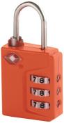 Travel Smart Travel Sentry 3-Dial Lock TSA Approved, Orange