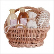 Ginger Therapy Gift Set Basket Gel Lotion Bath Salts