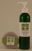 JustNeem All Natural Neem Soap and Lotion - 120g bar 240ml lotion - Lavendar