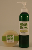 JustNeem All Natural Neem Soap and Lotion - 120g bar and 240ml lotion - Wind and Sea