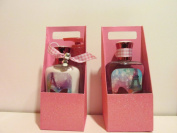 Bath and Body Works Paris Amour Gift Set -Pink Glittery Carrier W 240ml Lotion and Shower Gel and Pump