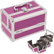 Cosmetic Makeup Train Case with Mirror and Extendable Trays Colour