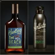 Mens Hollister Huntington Beach Hair Body Wash & Deodorant Body Spray Set