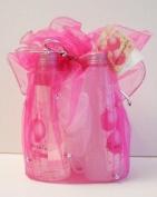 Pomegranate Bath & Body Gift Set Pink Pouch