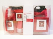 Pure Passion Cranberry Bath & Body Gift Set with Bag - Set of 4