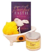 Castle Baths - Purr-fect Faith- Prayer Bath and Body Gift Basket with tub - Lavender Bergamot Rose Pink Grapefruit