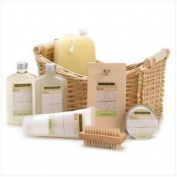 Lemongrass Eucalyptus Bath Body Lotion Scrub Spa Set