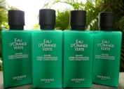 5.4oz (Four 40ml Bottles) Hermes d'Orange Hair Conditioner with D-Pantenol Vitamins.