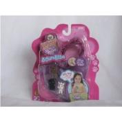 Kitty in My Pocket 3 Charm Kitties with Sparkling Dark Pink Bracelet
