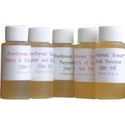 Northwest Scents Hair Oil Sampler - Five (5) one ounce bottles