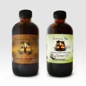 Jamaican black castor oil extra dark 240ml & extra virgin organic coconut oil 120ml