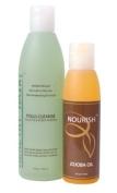Healthy Hair Plus - Deep Cleaning Hair & Scalp Kit - Follicle/Scalp purifier (8oz) & Jojoba Oil