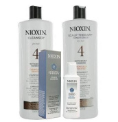 Nioxin System 4 Cleanser & Scalp Therapy Duo (Litre Size) + Hair Booster