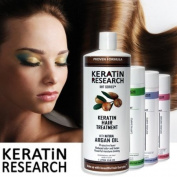 Complex Brazilian Keratin Hair Treatment 4 Bottles 1000ml Kit. Includes Sulphate Free