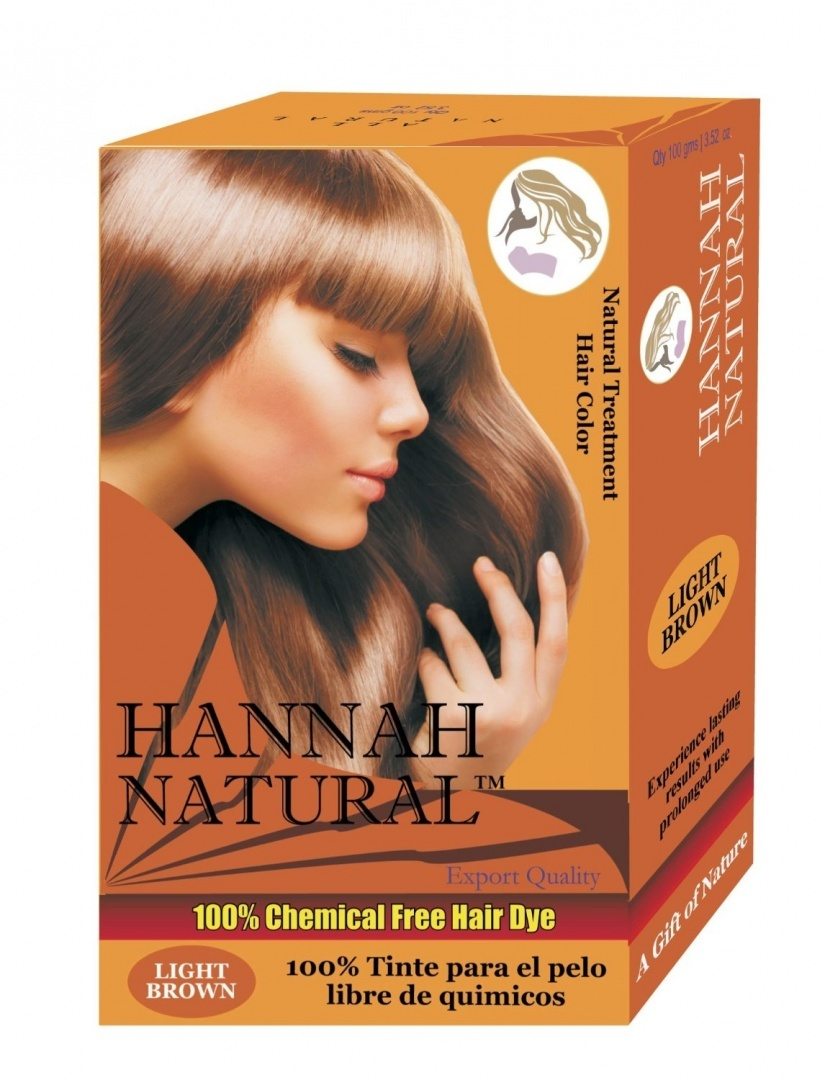 Hannah Natural 100 Chemical Free Hair Dye Light Brown 100 Gramme