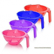 J & D My Colour Tinting Bowl with Comb Model No. 2476MC - Assorted Colour