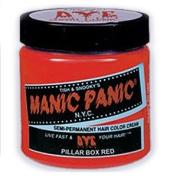 MANIC PANIC Semi-Permanent Hair Colour Cream Pillarbox Red (No