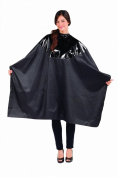 Betty Dain Signature Cosmix Chemical Cape, Snap Closure, Black, 0.5kg