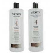 Nioxin System 4 Cleanser & Scalp Therapy Conditioner Fine Treated Set Duo 1000ml