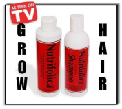 2 MONTH NUTRIFOLICA COMBO HAIR LOSS REGROWTH GROW ALOPECIA treatment & shampoo