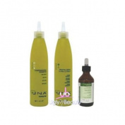 UNA SET (w/Lip Gloss) Compensating Shampoo 250ml + Revitalising Conditioner 250ml + Oxygenating Treatment 90ml for Hair Loss